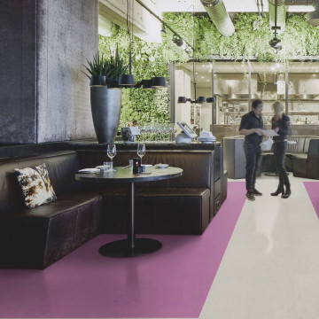 Marmoleum Concrete Purple Glow